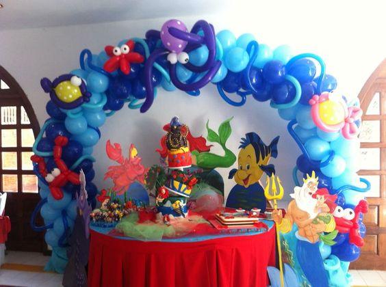 fiesta de la sirenita ariel decoracion - Buscar con Google