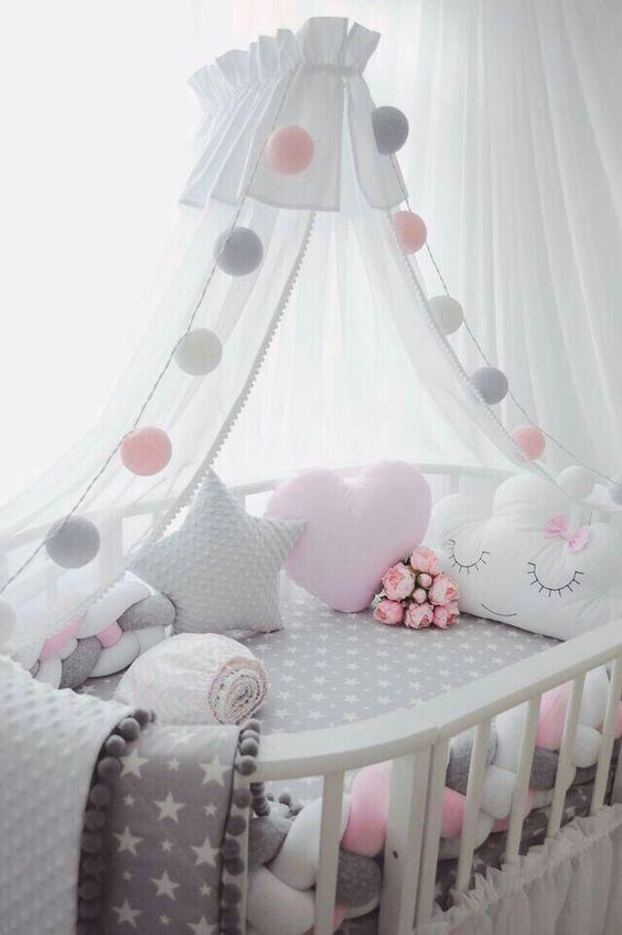 Adorable Cloud Shape Pom Pom Ins Decor Pillow Cushion Nursery Baby Room Baby Girl Bedroom Girl Nursery Room