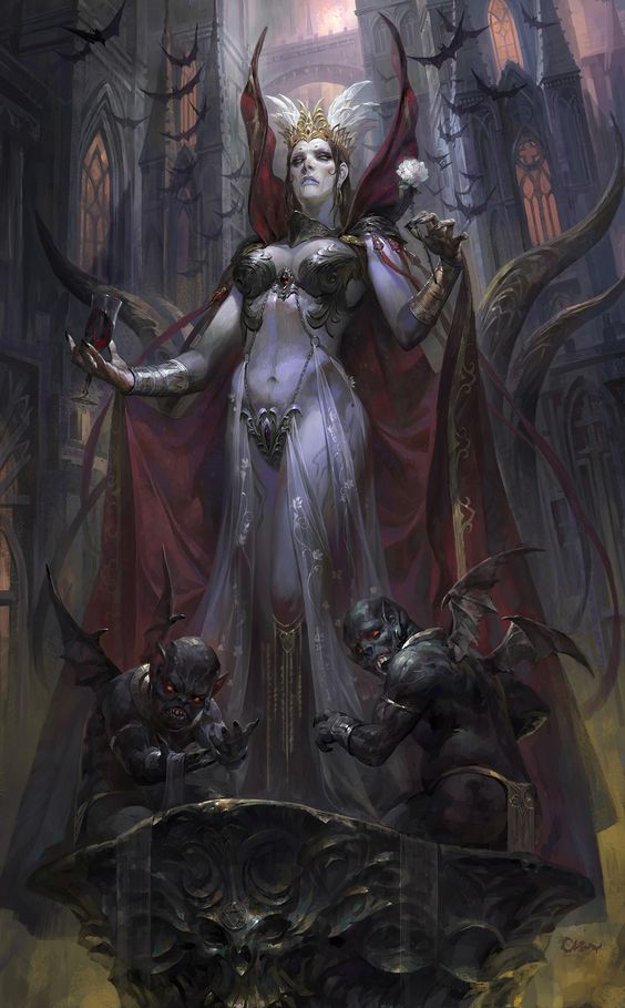 Oastra of the Vampire Magi, last ritual before she is slain by Spectre and Obsidian of the Wolf Pack.: