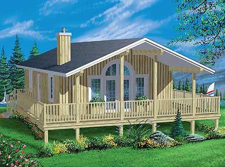 Small cottage plan. wrap - around porch