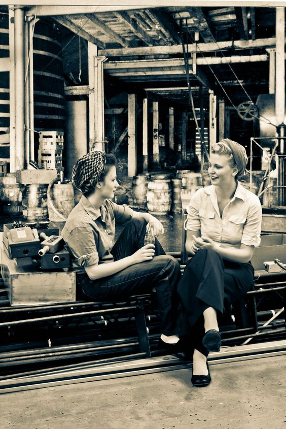Vintage Photography Project: Female Factory Workers- 1940s