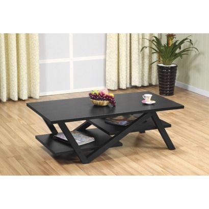 Modern Rectangular Coffee Table - Black.Opens in a new window