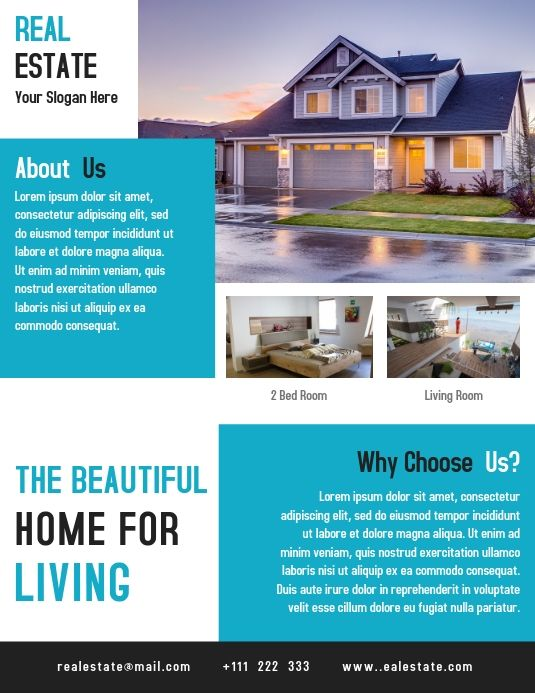 Real Estate Flyer Template Design Real Estate Flyers Poster Template Design Real Estate Flyer Template