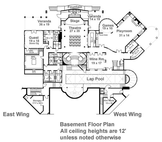 Basement floor plans  Basements and House plans on PinterestBalmoral House Plan   Bedrooms and   Baths   The House Designers
