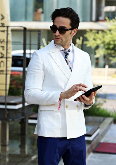 Double Breasted Summer Blazer - Outers