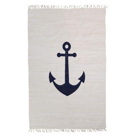 Teppich Anker, mit Ankermotiv, Maritimer Look, Baumwolle Vorderansicht