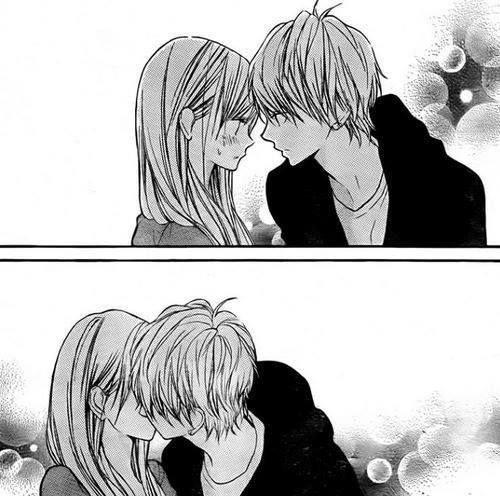 Kawaii couple #manga #kiss <3