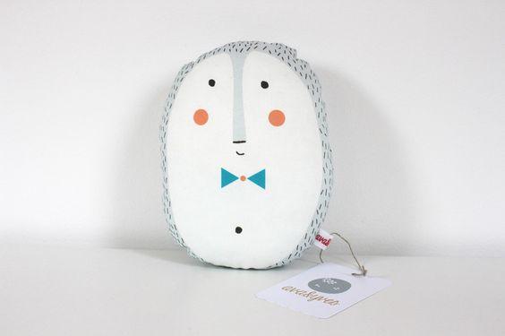 """Kissen - Mini-Kissen """"Igel"""" - ein Designerstück von avaundyves bei DaWanda"""