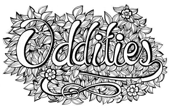 Oddities by m5 Design Studio.#Typography #Sketchbook