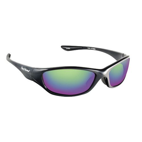 Fly Fish Cabo Sunglasses Black/Amber Green Mirror