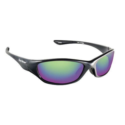 Fly Fish Cabo Sunglasses Black/Amber Green Mirror