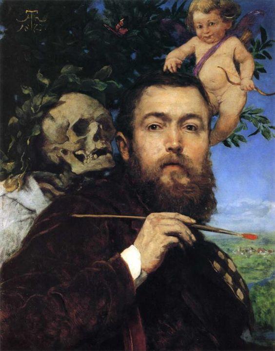 Hans Thoma (1839-1924) - Self-portrait: