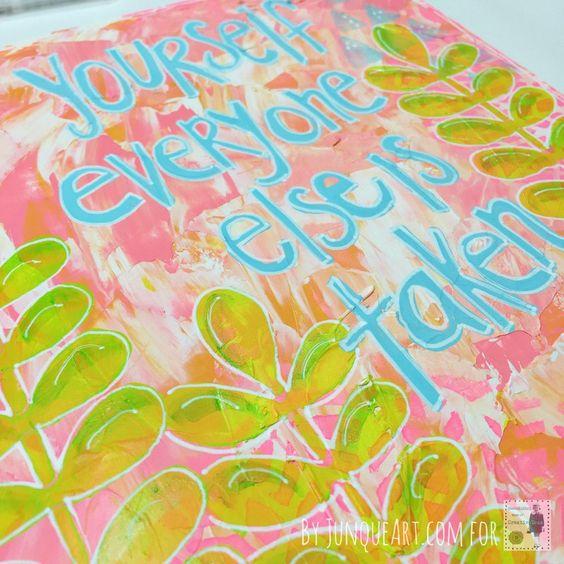 Art Journal Tutorial At StencilGirl