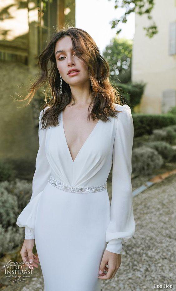 Lihi Hod 2019 long sleeve Wedding Dresses