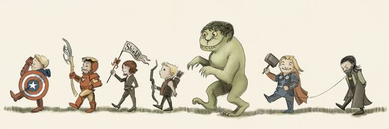 Avengers on Parade, inspired by the memory of Maurice Sendak, who recently passed away