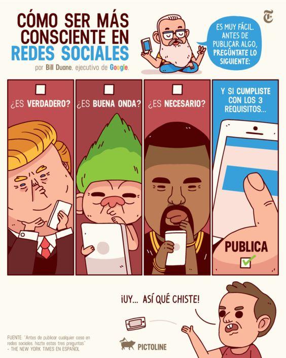 Antes de publicar cualquier cosa en redes sociales, hazte estas tres preguntas – Español