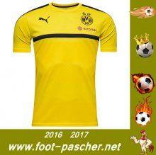 Bundesliga : Training T-Shirt Du Dortmund BVB Jaune Saisson 2016 2017 Thailande Pas Chere