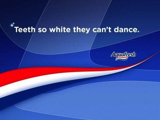 Teeth so white they can't dance