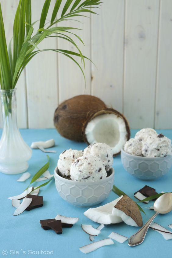 Kokos-Schokoladen-Eis