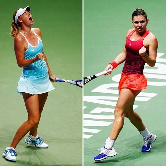 World No.2 Simona Halep vs World No.4 Maria Sharapova #WTAFinals showdown! Who you got?