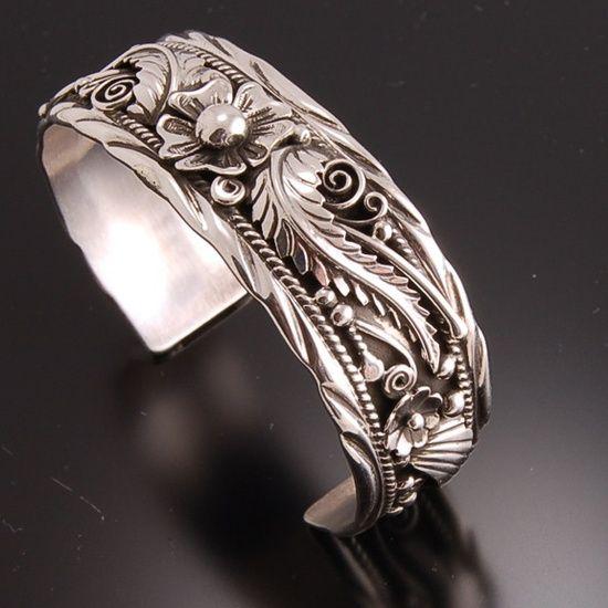 Cuff | Erick Begay (Navajo). Sterling silver