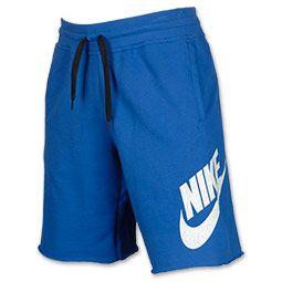 Men's Nike AW77 Alumni Shorts | FinishLine.com | Game Royal/White