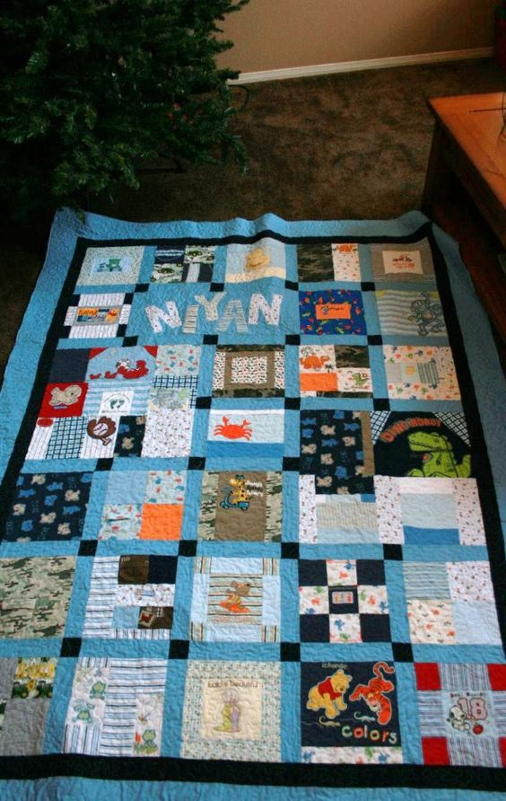 Memory quilts, Babies clothes and Memories on Pinterest