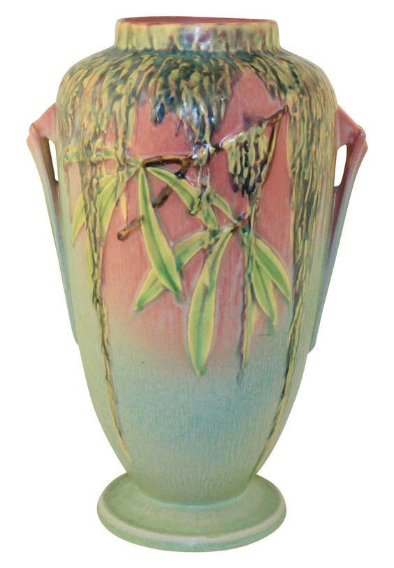 Roseville Pottery Moss Pink Vase 785-12: