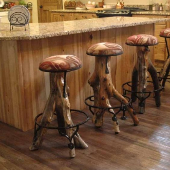 Log Bar Stools Log Cabin Builders And Cabin On Pinterest