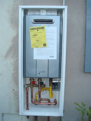 Water heater enclosure home improvement projects - Exterior hot water heater enclosure ...