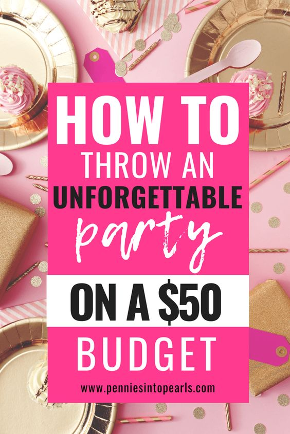 I promise you that if you don't let yourself make excuses and stick to these tips on planning a party on a budget, you can stick to a $50 party budget too! This is how to throw a party on a budget and still make it unforgettable! Simple DIY party planning ideas on a budget! #partyplanning #DIYparty #partyonabudget