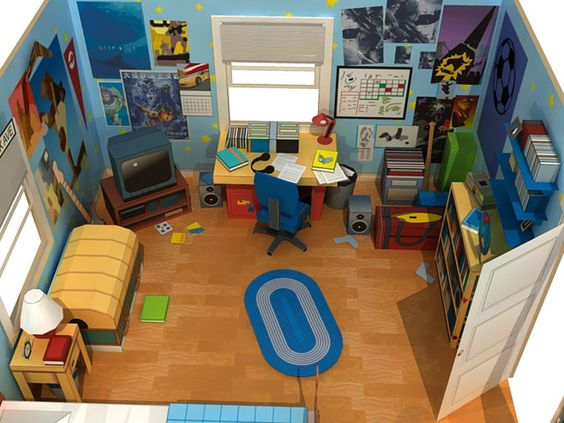 Andy's Room Diorama / Toy Story 3
