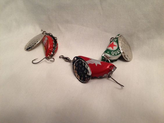 Project ideas bottle and beer bottles on pinterest for Bottle cap fishing lure