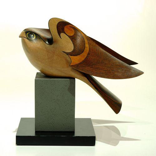 Karearea • New Zealand Falcon by Rex Homan, Māori artist (KR81006):