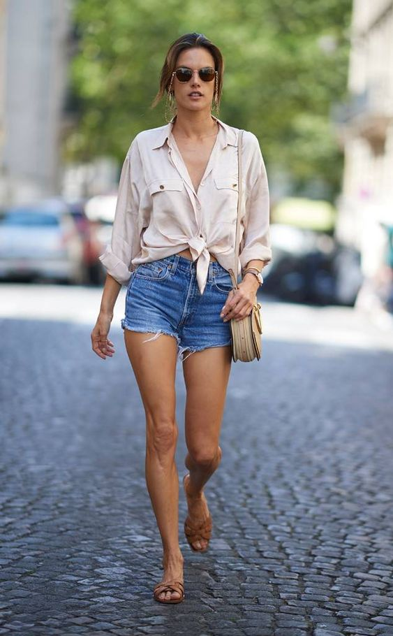 Alessandra Ambrosio from The Big Picture: Today's Hot Photos Summer in the city! The model is seen out for a stroll in her daisy dukes during a warm day in the Big Apple.