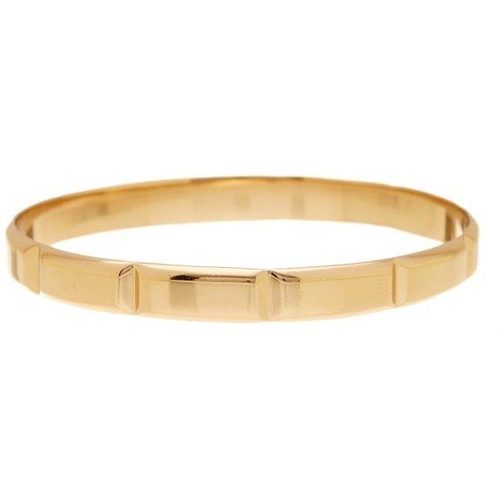Melinda Maria Margo Bangle (364.450 IDR) ❤ liked on Polyvore featuring jewelry, bracelets, gold, 18k bangle, 18 karat gold jewelry, hinged bracelet, bangle jewelry and bracelets bangle