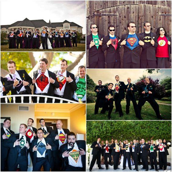 Superhero groomsmen- how cute lol