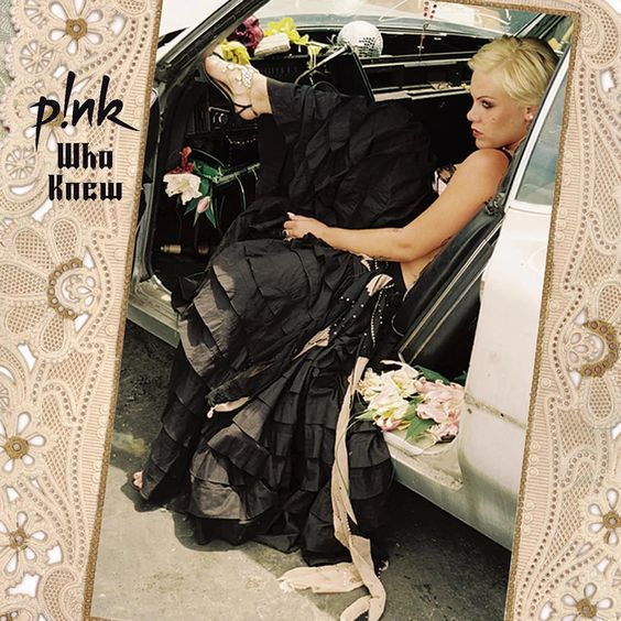 Pink – Who Knew (single cover art)