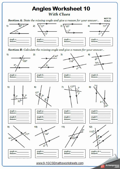 Lines And Angles Worksheet Fresh Angles On Parallel Lines Worksheets Cazoomy Geometry Worksheets Angles Worksheet Year 7 Maths Worksheets