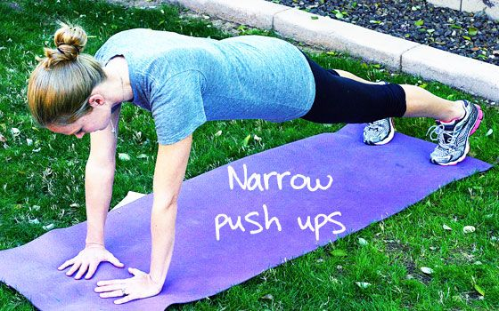 Inspired RD Exercise Library: Narrow Push-Ups