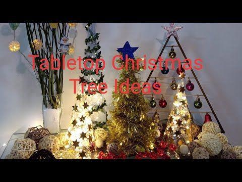 Diy Tabletop Christmas Trees Easy Christmas Decorating Ideas Last Minute Christmas Decorations Y In 2020 Christmas Tree Tabletop Christmas Tree Simple Christmas Tree
