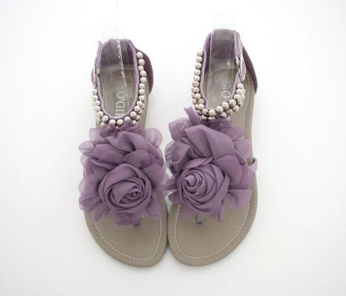 Q-Romantic-Rose-T-Bar-Strap-Ankle-Flat-Gladiator-Sandals-Blue-Beige-Pink-Purple