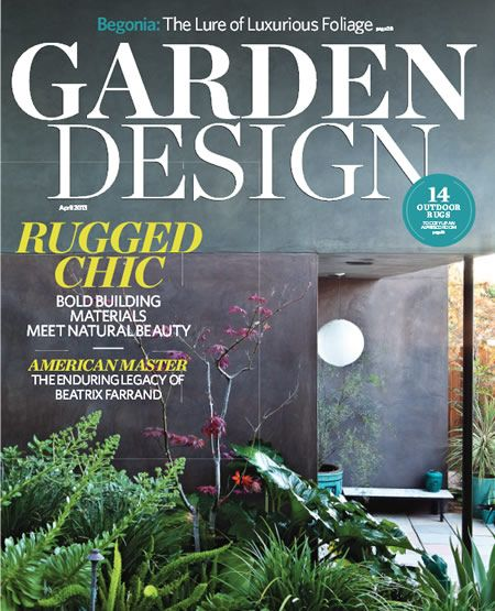 Starting summer 2014 garden design magazine will for Garden design books