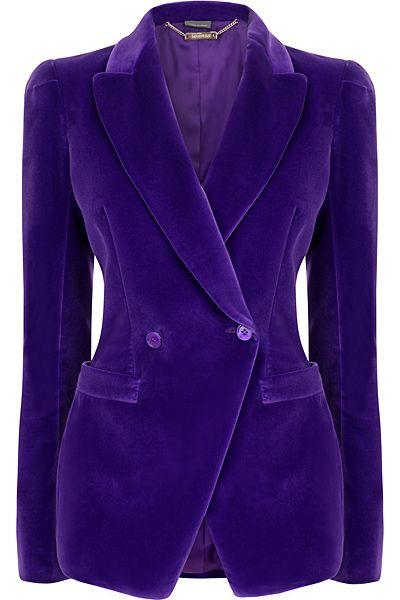 Alexander McQueen purple velvet jacket style jackets   gave