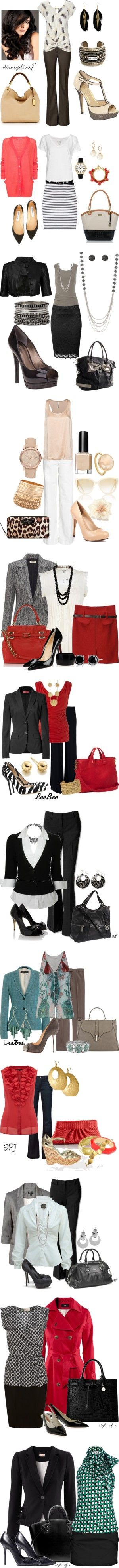 """""""@the office"""" by lluikart ❤ liked on Polyvore"""