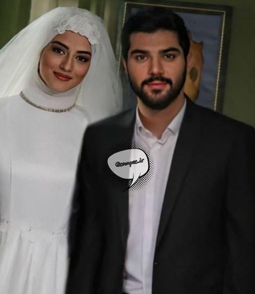 عروس و داماد سریال آقازاده Iranian Actors Muslim Couple Quotes Muslim Couples