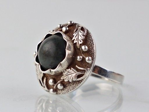 Pierscionek Warmet Warszawa Liscie Debu 7160916329 Oficjalne Archiwum Allegro Metal Clay Jewelry Unusual Rings Jewelry