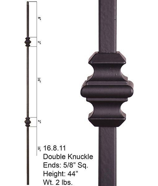 Flat black Hollow baluster HOME STAIRWAY Single collar design /& box of 10 Stairs railing