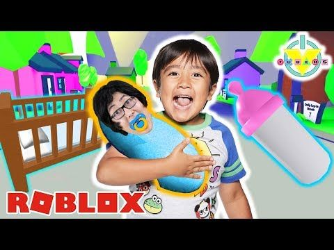 Ryan Adopted His Daddy In Roblox Let S Play Adopt Me Youtube