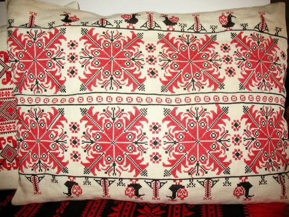 Pillow, cross stitch (Hungary). - I made very similar to this one long time ago...